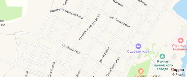 Пролетарский переулок на карте села Тирлянского с номерами домов