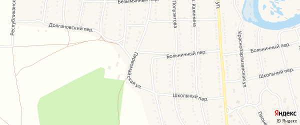 Первомайская улица на карте села Тирлянского с номерами домов