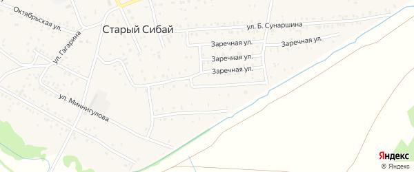 Улица Абдрахмана кантона на карте села Старого Сибая с номерами домов
