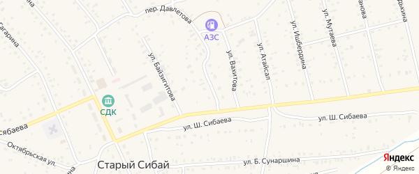 Электрическая улица на карте села Старого Сибая с номерами домов