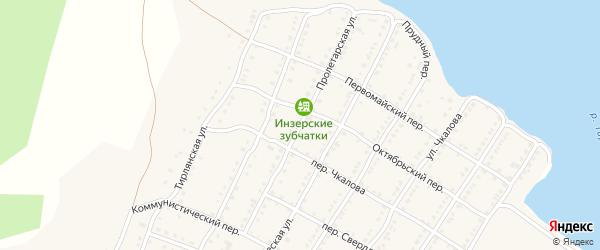 Пролетарская улица на карте села Тирлянского с номерами домов
