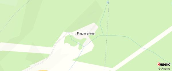 Карта деревни Карагайлы в Башкортостане с улицами и номерами домов