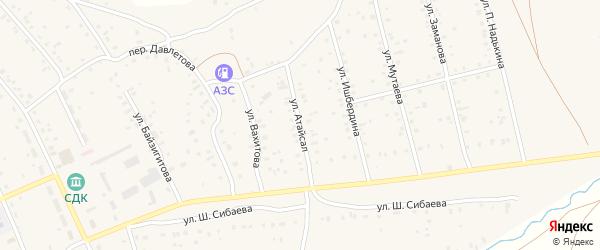 Улица Атайсал на карте села Старого Сибая с номерами домов