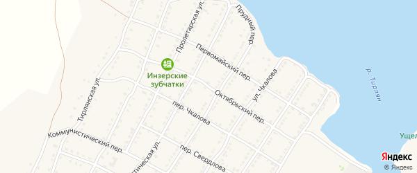 Октябрьский переулок на карте села Тирлянского с номерами домов