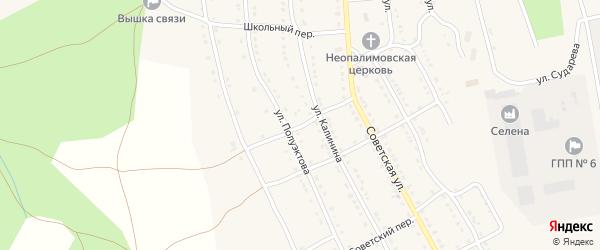 Крестьянский переулок на карте села Тирлянского с номерами домов
