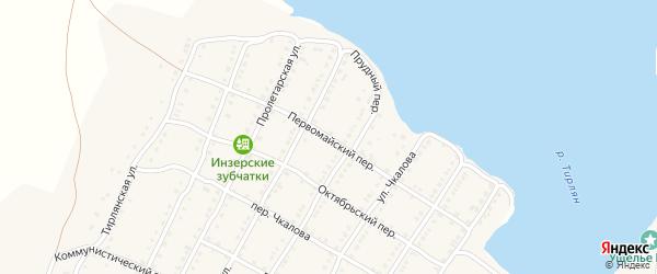 Первомайский переулок на карте села Тирлянского с номерами домов
