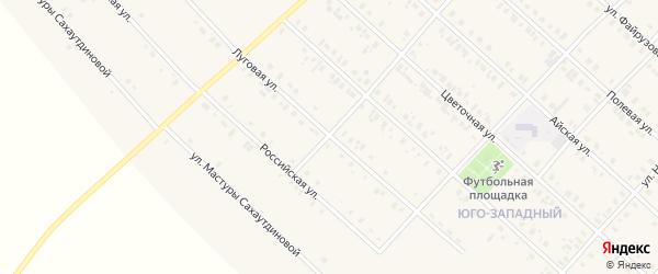 Луговая улица на карте села Верхние Киги с номерами домов