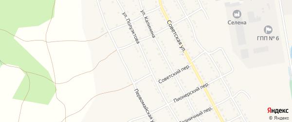 Улица Полуэктова на карте села Тирлянского с номерами домов