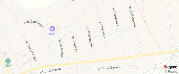 Улица Ишбердина на карте села Старого Сибая с номерами домов