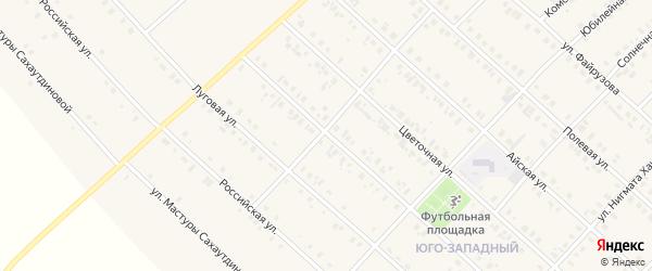 Уральская улица на карте села Верхние Киги с номерами домов