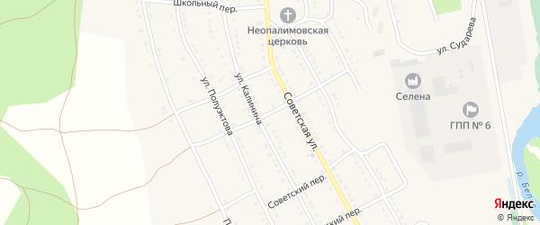 Калининский переулок на карте села Тирлянского с номерами домов
