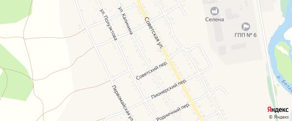 Улица Калинина на карте села Тирлянского с номерами домов