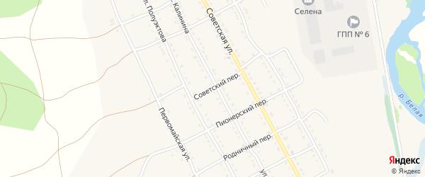 Советский переулок на карте села Тирлянского с номерами домов