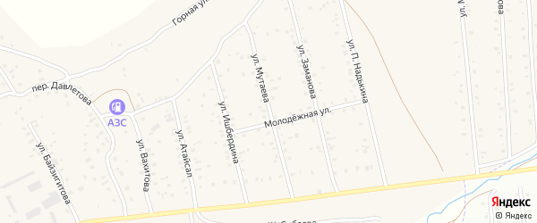 Улица Мутаева на карте села Старого Сибая с номерами домов