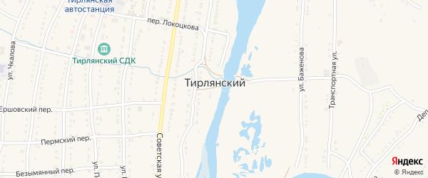 Улица Матросова на карте села Тирлянского с номерами домов