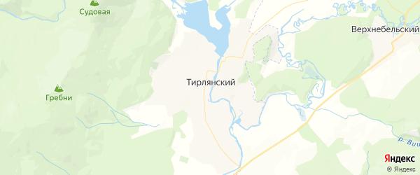 Карта Тирлянского сельсовета республики Башкортостан с районами, улицами и номерами домов