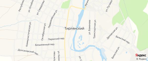 Карта села Тирлянского в Башкортостане с улицами и номерами домов