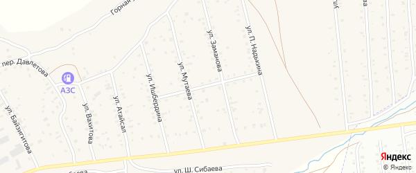 Молодежная улица на карте села Старого Сибая с номерами домов