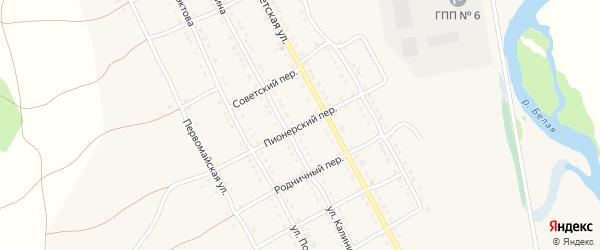 Пионерский переулок на карте села Тирлянского с номерами домов