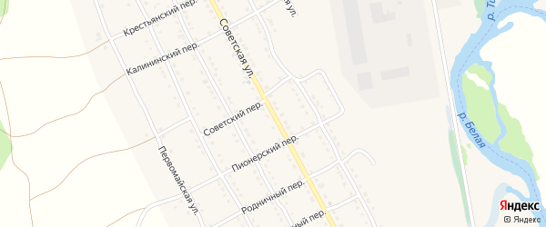 Советская улица на карте села Тирлянского с номерами домов