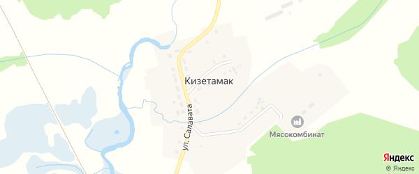 Улица Салавата на карте деревни Кизетамака с номерами домов