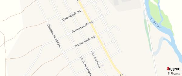 Родничный переулок на карте села Тирлянского с номерами домов
