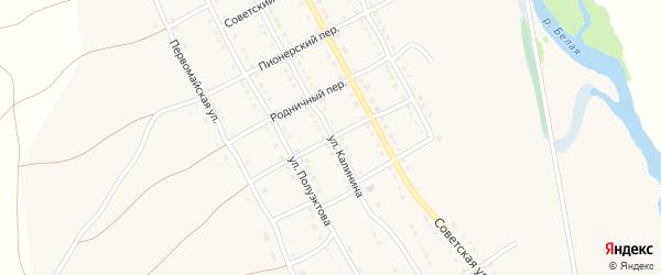 Набережный переулок на карте села Тирлянского с номерами домов