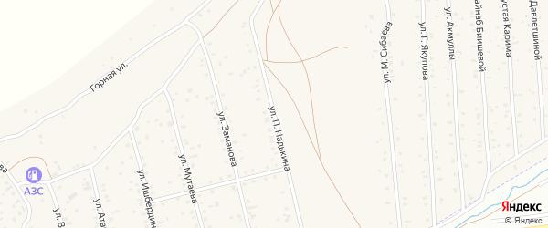 Улица П.Надькина на карте села Старого Сибая с номерами домов