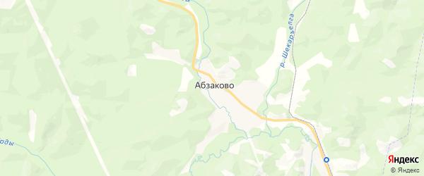 Карта Абзаковского сельсовета республики Башкортостан с районами, улицами и номерами домов