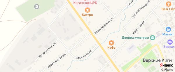 Карайлинская улица на карте села Верхние Киги с номерами домов
