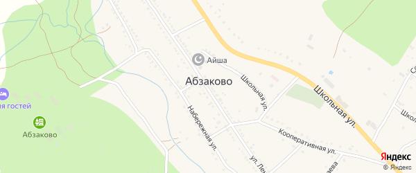 Солнечная улица на карте села Абзаково с номерами домов