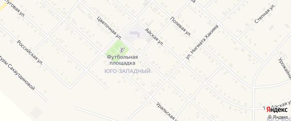 Цветочная улица на карте села Верхние Киги с номерами домов