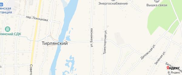 Улица Баженова на карте села Тирлянского с номерами домов