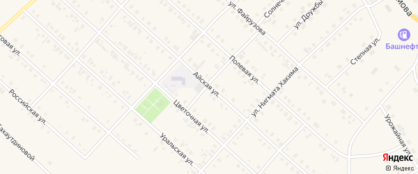Айская улица на карте села Верхние Киги с номерами домов