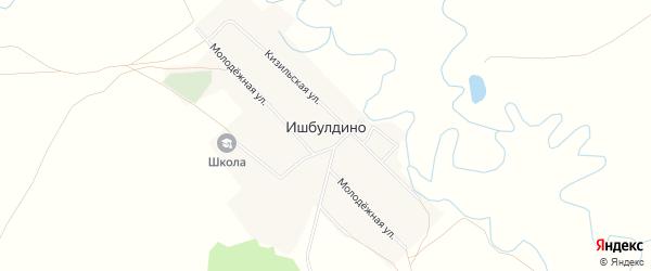 Карта деревни Ишбулдино в Башкортостане с улицами и номерами домов