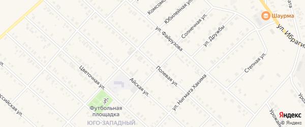 Полевая улица на карте села Верхние Киги с номерами домов