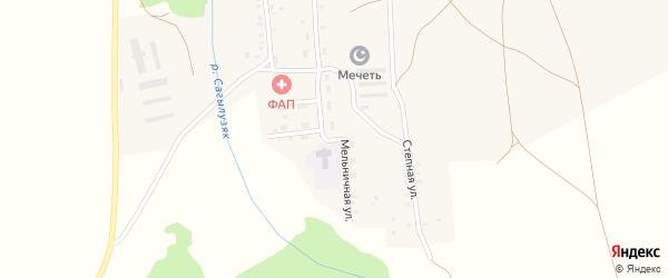Мельничная улица на карте деревни Янзигитово с номерами домов