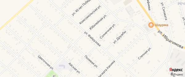 Улица Файрузова на карте села Верхние Киги с номерами домов