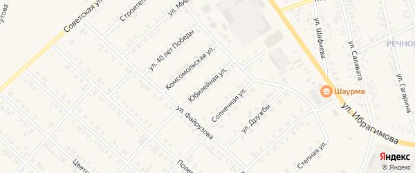 Юбилейная улица на карте села Верхние Киги с номерами домов