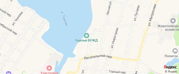 Лесопильная улица на карте села Тирлянского с номерами домов