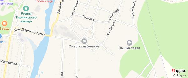 Улица Дзержинского на карте села Тирлянского с номерами домов