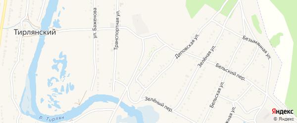 Железнодорожная улица на карте села Тирлянского с номерами домов