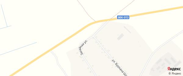 Западная улица на карте села Еланлино с номерами домов