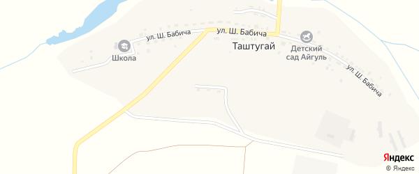 Улица Салавата Юлаева на карте деревни Таштугая с номерами домов
