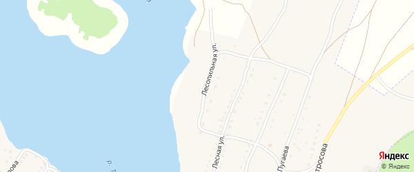 Лесная улица на карте села Тирлянского с номерами домов