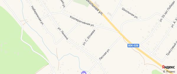 Улица Салавата Юлаева на карте села Абзаково с номерами домов