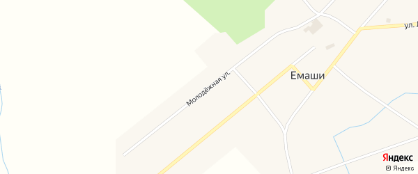 Молодежная улица на карте села Ургалы с номерами домов