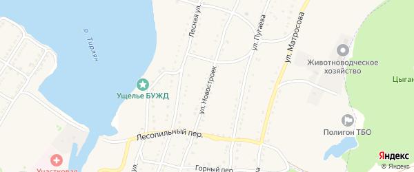 Улица Новостроек на карте села Тирлянского с номерами домов
