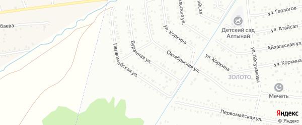 Буранная улица на карте Сибая с номерами домов