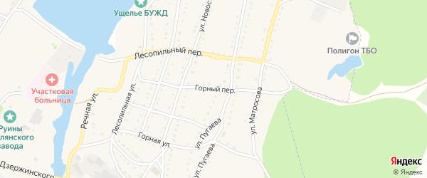 Горный переулок на карте села Тирлянского с номерами домов